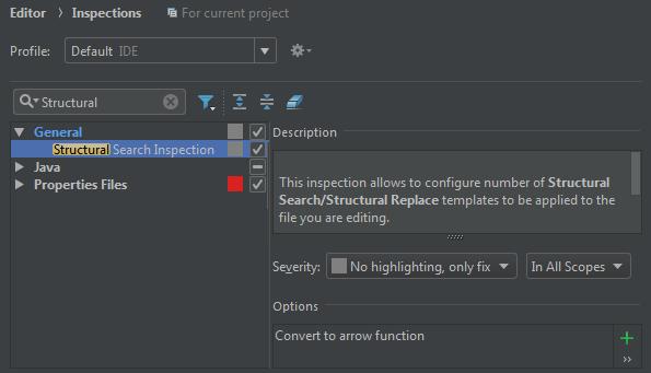 Convert to arrow function in WebStorm